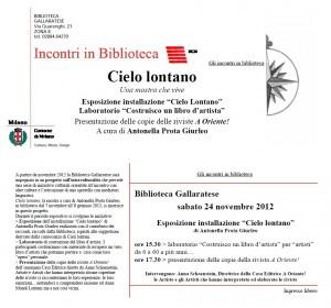 Cielo Lontano invito 24.11.2012