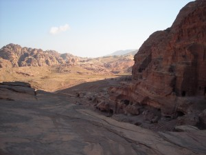 Vista su Petra giordania